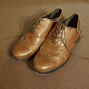 Dexter men's 10 1/2 brown dress shoes